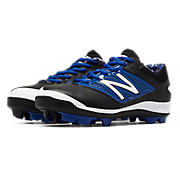 Youth Low-Cut 4040v3 Rubber Molded Cleat, Black with Blue