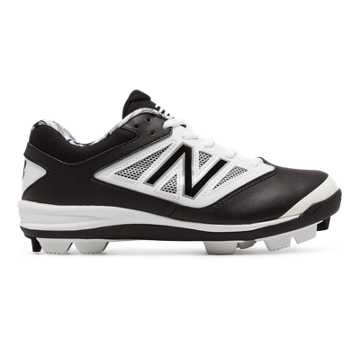 New Balance Low-Cut 4040v3 Rubber Molded Cleat, Black with White