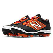 Youth Low-Cut 4040v3 Rubber Molded Cleat, Black with Orange