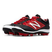 Low-Cut 4040v3 Rubber Molded Cleat, Black with Red