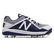 Youth Low-Cut 4040v4 Rubber Molded Cleat, Navy with White