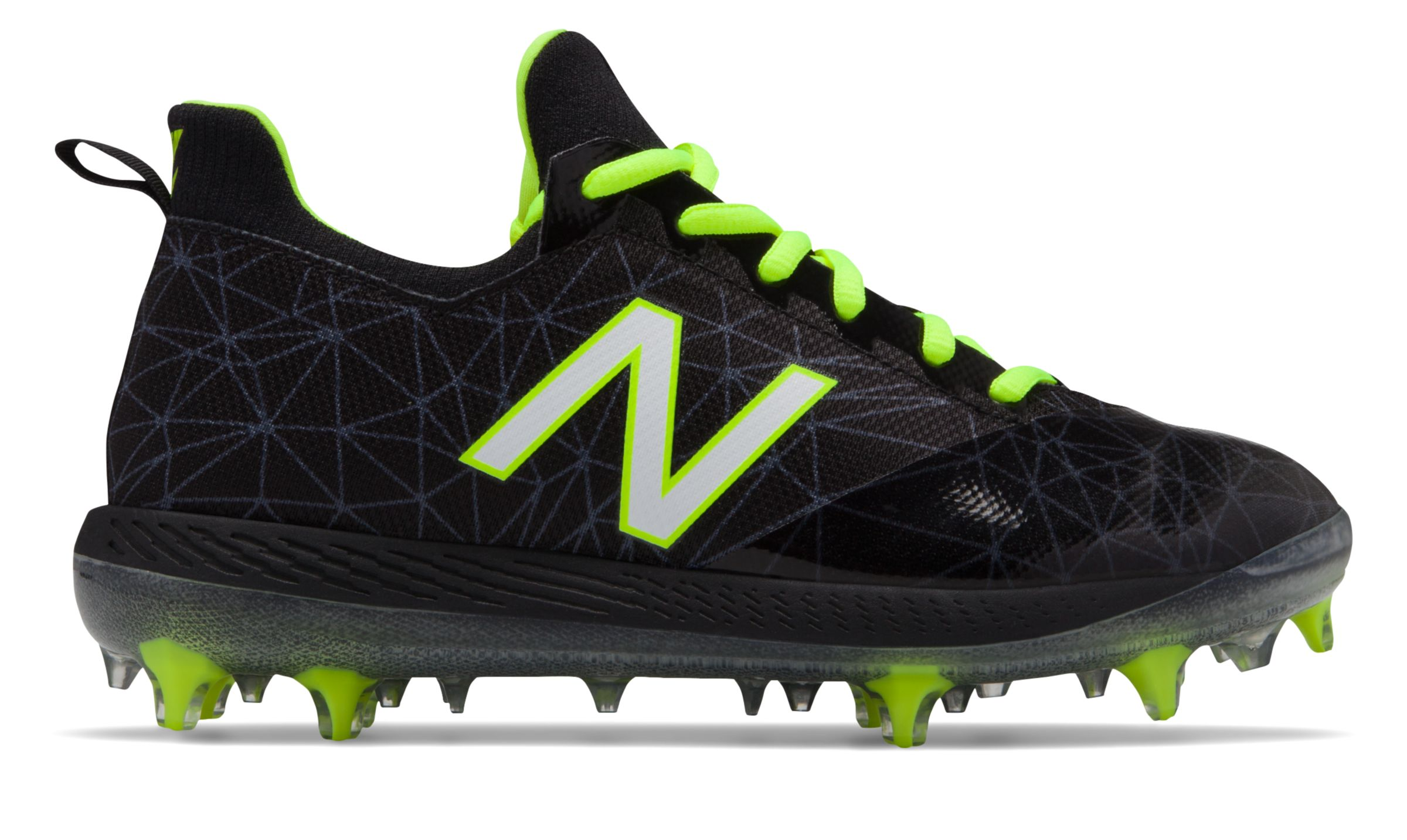 New Balance Kid's Low-Cut Lindor Elite Youth Baseball Cleat Big Kids Unisex Shoes Black photo