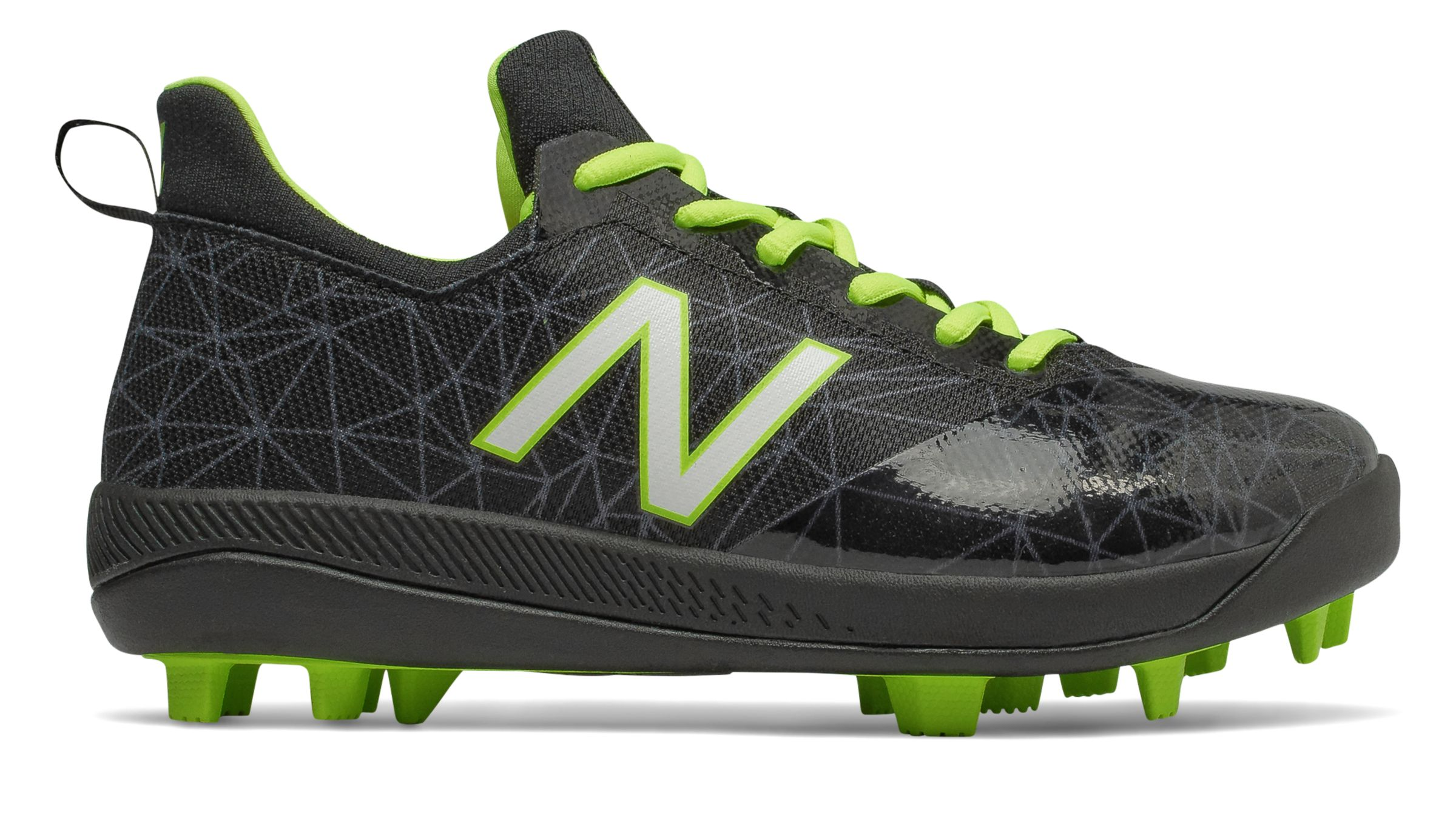 New Balance Kid's Low-Cut Lindor Pro Youth Baseball Cleat Big Kids Unisex Shoes Black with Green photo