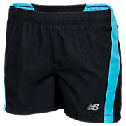 Girls NP Short, Black with Aqua