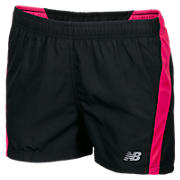 Girls NP Short, Black with Diva Pink