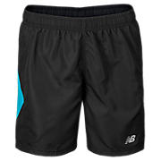 Boys Trackshort, Black with Kinetic Blue