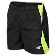 Boys Momentum Short, Black with Hi-Vis Yellow