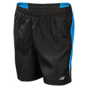 Boys Accelerate Short, Black with Laser Blue
