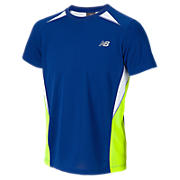 Junior Boys Momentum Tech Tee, Sodalite with Hi-Vis Yellow