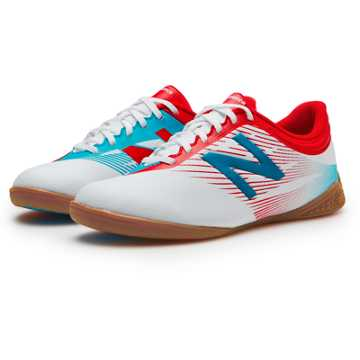 New Balance Junior Furon 2.0 Dispatch IN, White with Atomic & Barracuda