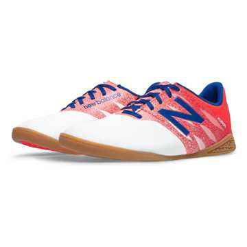 New Balance Junior Furon Dispatch IN, White with Flame & Bolt