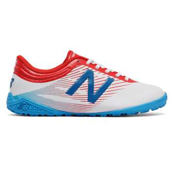 New Balance Junior Furon 2.0 Dispatch TF, White with Atomic & Barracuda