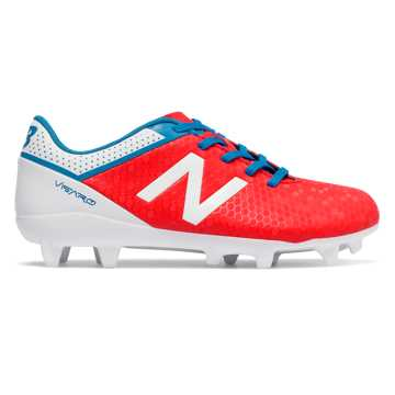 New Balance Junior Visaro Control FG, Atomic with White & Barracuda