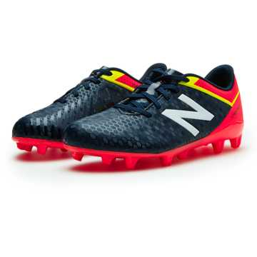 New Balance Junior Visaro Control FG, Galaxy with Bright Cherry & Firefly