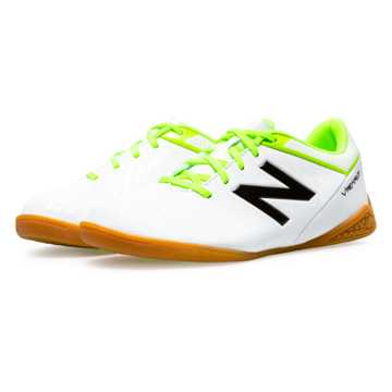 New Balance Junior Visaro Control IN, White with Toxic