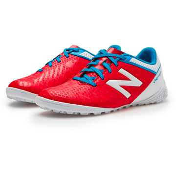 New Balance Junior Visaro Control TF, Atomic with White & Barracuda