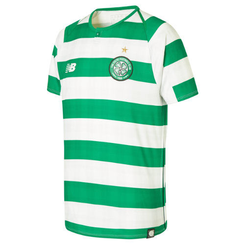 New Balance Celtic FC Home Junior Short Sleeve Jersey - No Sponsor Unisex Celtic FC - JT830059WCG