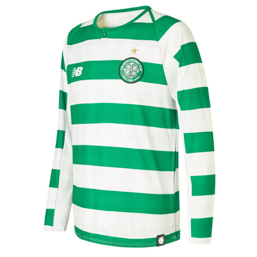 New Balance Celtic FC Home Junior Long Sleeve Jersey - No Sponsor Unisex Celtic FC - JT830062WCG
