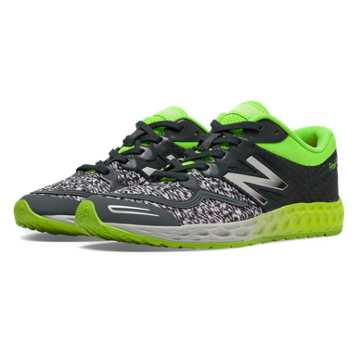 New Balance Fresh Foam Zante, Dark Grey with Lime Green