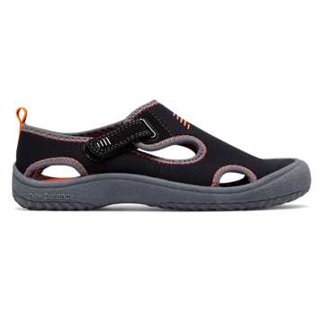 New Balance Cruiser Sandal, Black with Orange