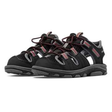 New Balance Adirondack Sandal, Black with Grey