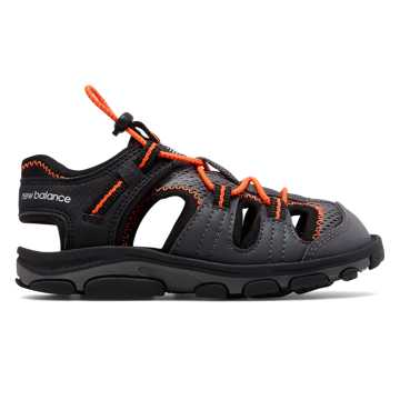 New Balance Adirondack Sandal, Black with Orange