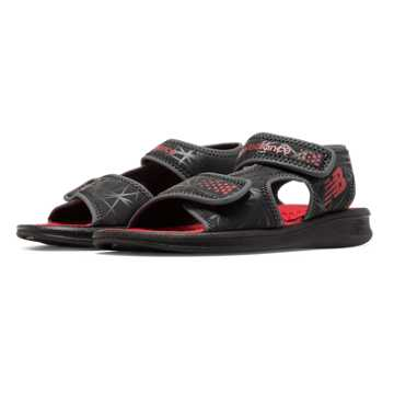 New Balance Sport Sandal, Black with Red