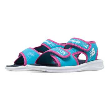 New Balance Sport Sandal, White with Blue Atoll & Pink Glo