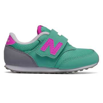 New Balance 620 Hook and Loop, Artic Blue with Fluorescent Pink