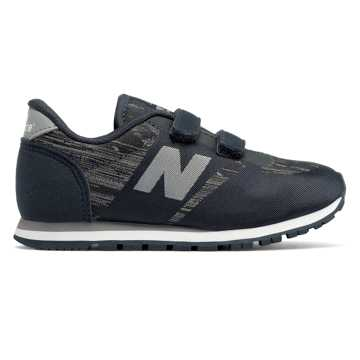 New Balance 420 Hook and Loop, Black with Grey