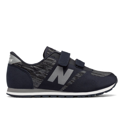 New Balance 420 Hook and Loop Chaussures - Black/Grey (Taille EU 37.5 / UK 4.5)