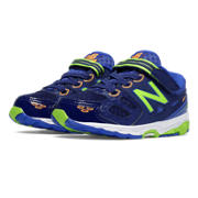 New Balance Hook and Loop 680v3, Blue with Toxic