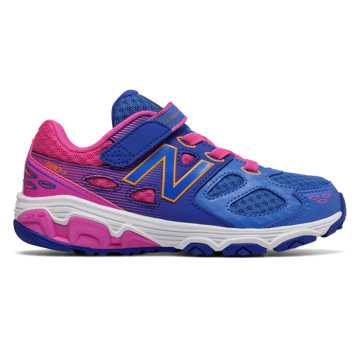 New Balance Hook and Loop 680v3, Blue with Pink Zing