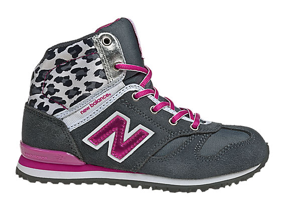 New Balance 490, Dark Grey with Raspberry