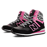 New Balance 491, Black with Pink Glo & Silver