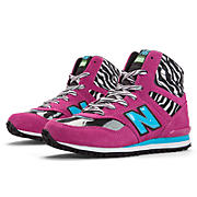 New Balance 491, Magenta with Aqua & Black