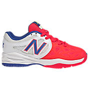 New Balance 996, White with Hot Pink & Blue
