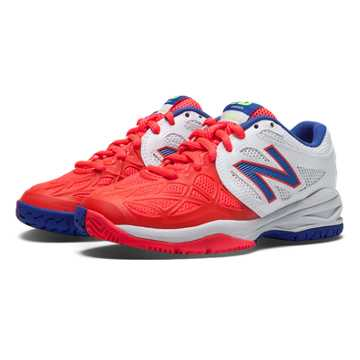 New Balance New Balance 996, White with Bright Cherry & Blue