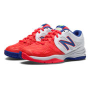 New Balance 996, White with Bright Cherry & Blue