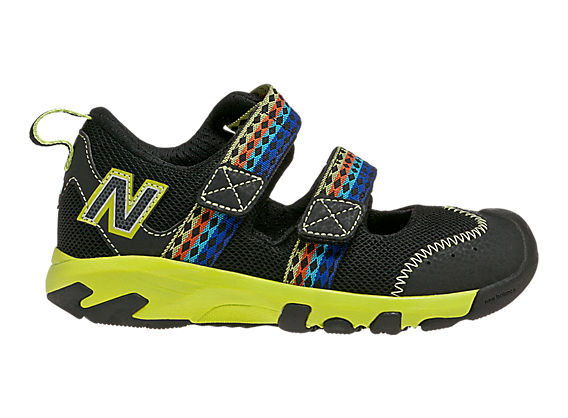 New Balance 554, Black with Lime