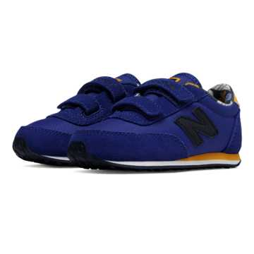 New Balance 410 Hook and Loop, Blue with Yellow