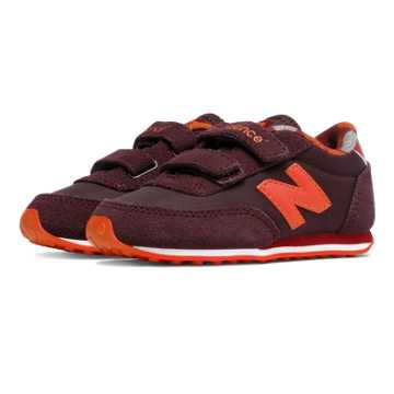 New Balance 410 Hook and Loop, Burgundy with Red
