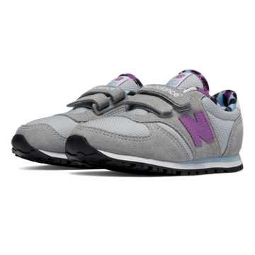 New Balance 420 Artistic Pop Hook and Loop, Grey with Purple Cactus Flower