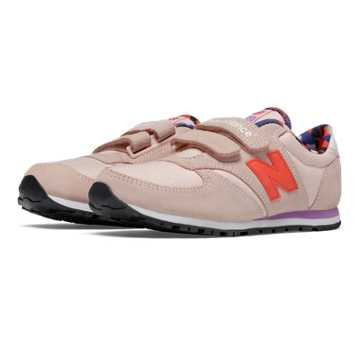 New Balance 420 Artistic Pop Hook and Loop, Pink with Purple