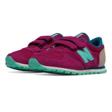 New Balance 420 Hook and Loop, Purple with Aqua