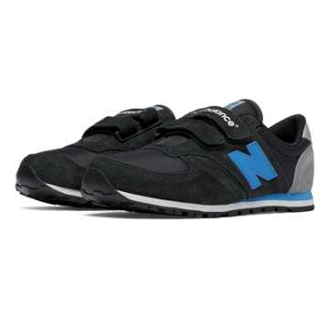 New Balance 420 Hook and Loop, Black with Blue & Grey