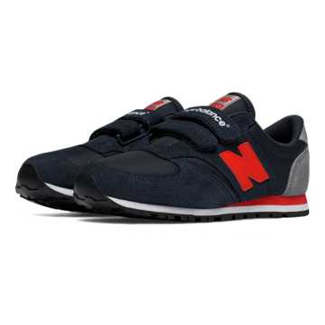 New Balance 420 Hook and Loop, Navy with Red & Grey