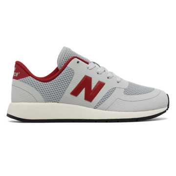 New Balance 420 New Balance, Light Grey with Red