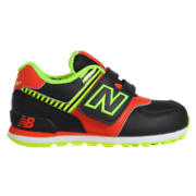 New Balance High Visibility 574, Black with Orange