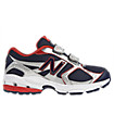 New Balance 633, White with Navy & Red